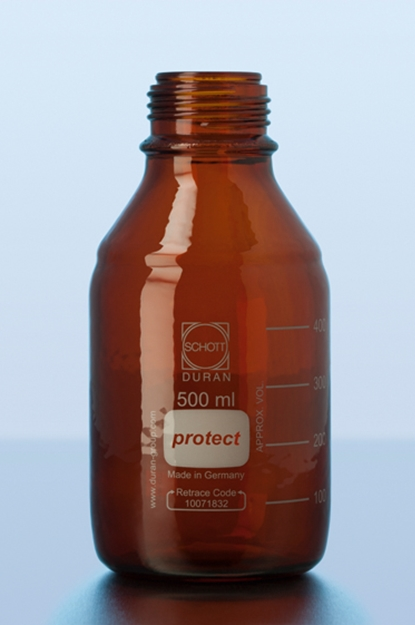 PROTECT PLASTIC COATED AMBER BOTTLE
