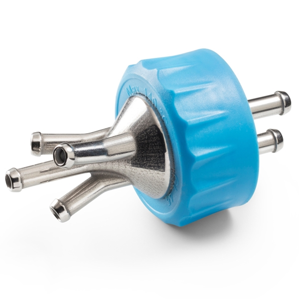 SCREW CAP WITH STAINLESS STEEL PORTS