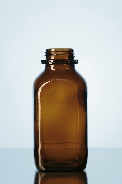 SQUARE AMBER BOTTLE